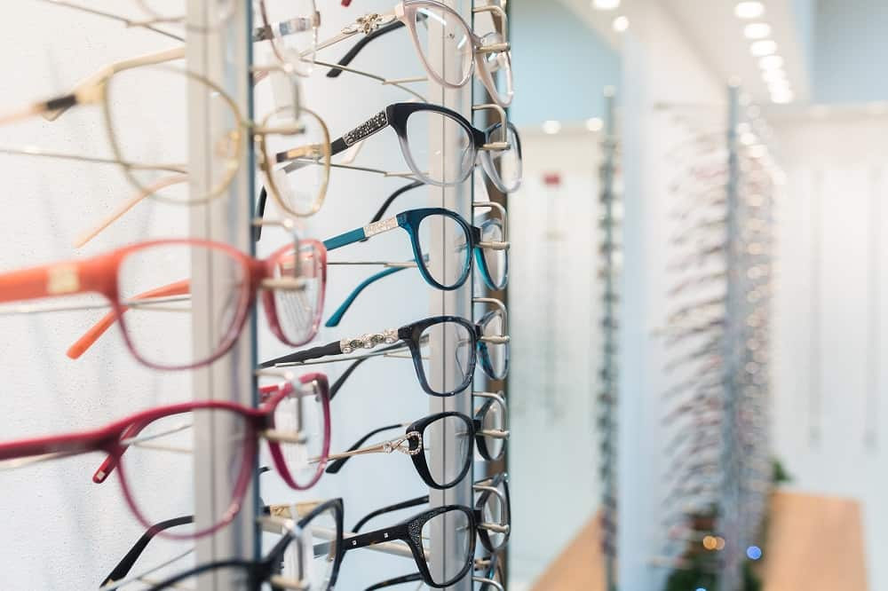 Row of eyeglass