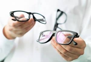 Optician comparing