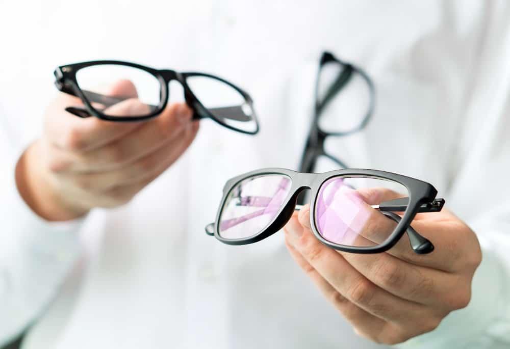 Optician comparing